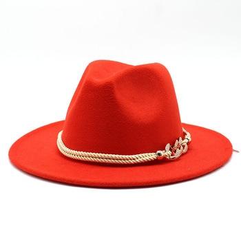 Black/white Wide Brim Simple Church Derby Top Hat Panama Solid Felt Fedoras Hat for Men Women artificial wool Blend Jazz Cap 11