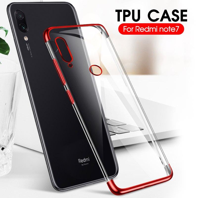 Plating Case On Redmi Note 7 8 Pro Soft Silicone Phone Case For Xiaomi Mi9 SE Mi 9 9T Pro Protective Case Back Cover Coque Capa