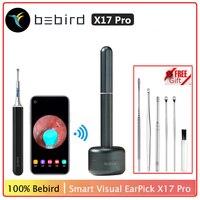 Oringal-endoscopio de alta precisión Bebird X17 Pro, Mini cámara de extracción de cera de los oídos, limpiador, Base de carga magnética