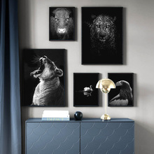 Animal Tiger Leopard Swan Wall Art Print Canvas Painting Nordic Poster And Prints Pictures For Living Room Decor