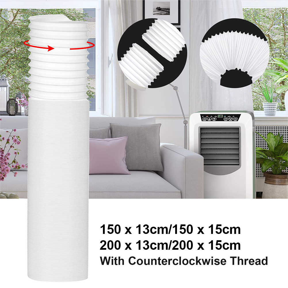 air conditioner exhaust hose extension window adapter long counterclockwise portable air conditioner exhaust pi