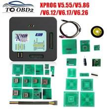 XPROG V5.55 V5.86 V6.12 V6.26 صندوق معدني أسود أفضل XPROG M V 6.12 ECU واجهة البرمجة Xprog M 5.55 5.86 6.17 ATMEGA64A