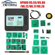 XPROG V5.55 V5.86 V6.12 V6.26 czarny metalowe pudełko lepiej XPROG M V 6.12 programowanie ECU interfejs Xprog M 5.55 5.86 6.17 ATMEGA64A