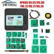 XPROG V5.55 V5.86 V6.12 V6.26 Đen Hộp Kim Loại Tốt Hơn XPROG M V 6.12 ECU Giao Diện Lập Trình Xprog M 5.55 5.86 6.17 ATMEGA64A