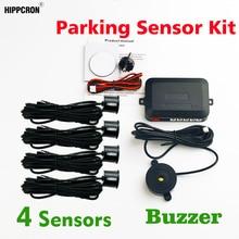 Buzzer kit sensor de estacionamento do carro (com/sem buraco saw) radar backup alerta sonoro indicador sonda sistema 4 sensores 22mm 12v