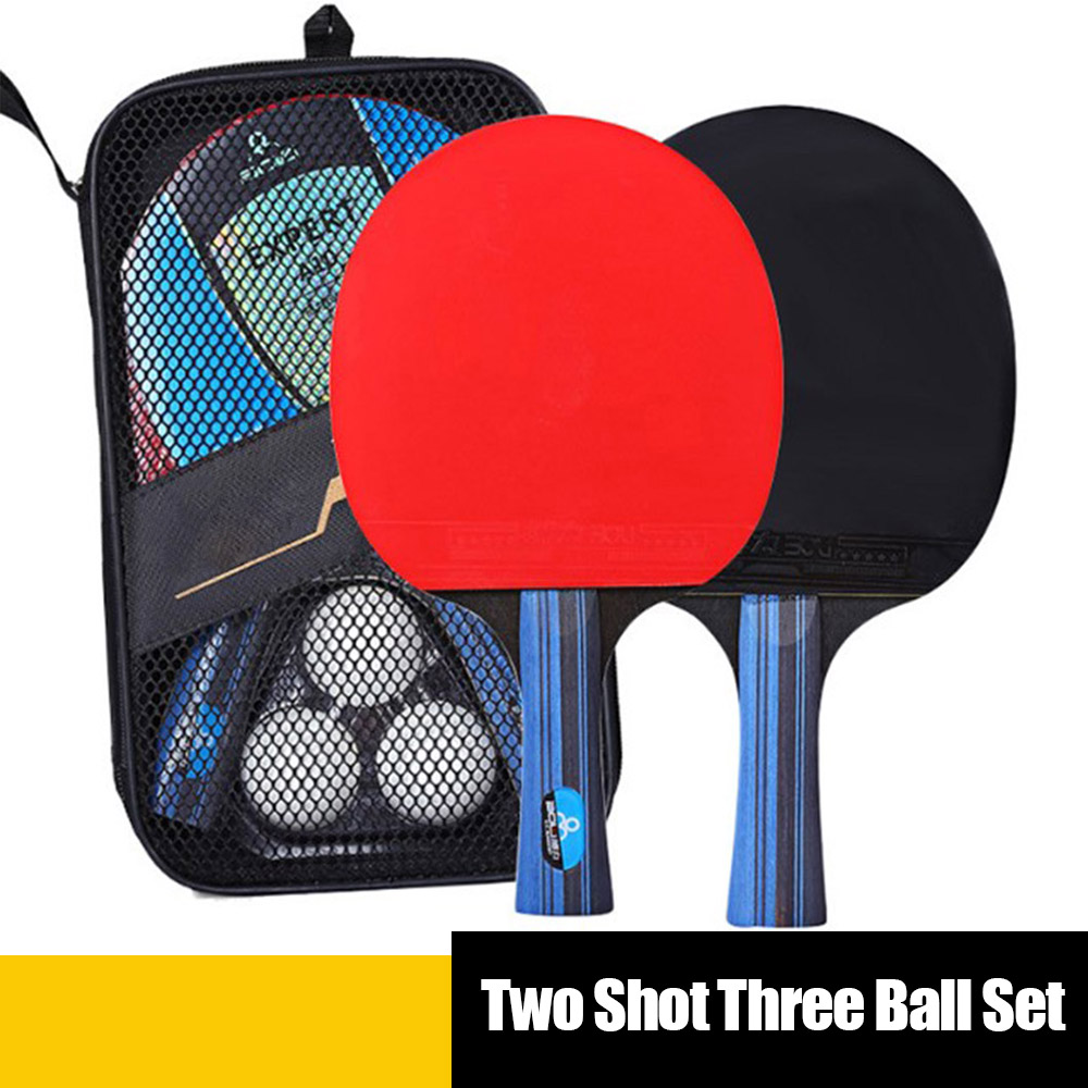 5 Star Black Red Carbon Table Tennis Racket Set Super Powerful Ping Pong Racket Bat For Adult Club Training Teenager Player D30