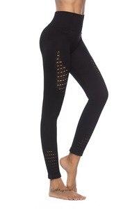 Image 4 - חותלות דחיסת מכנסיים אצן נשים כושר סופר נמתח תרגיל מכנסיים מכנסיים חותלות חלקה בטן בקרה