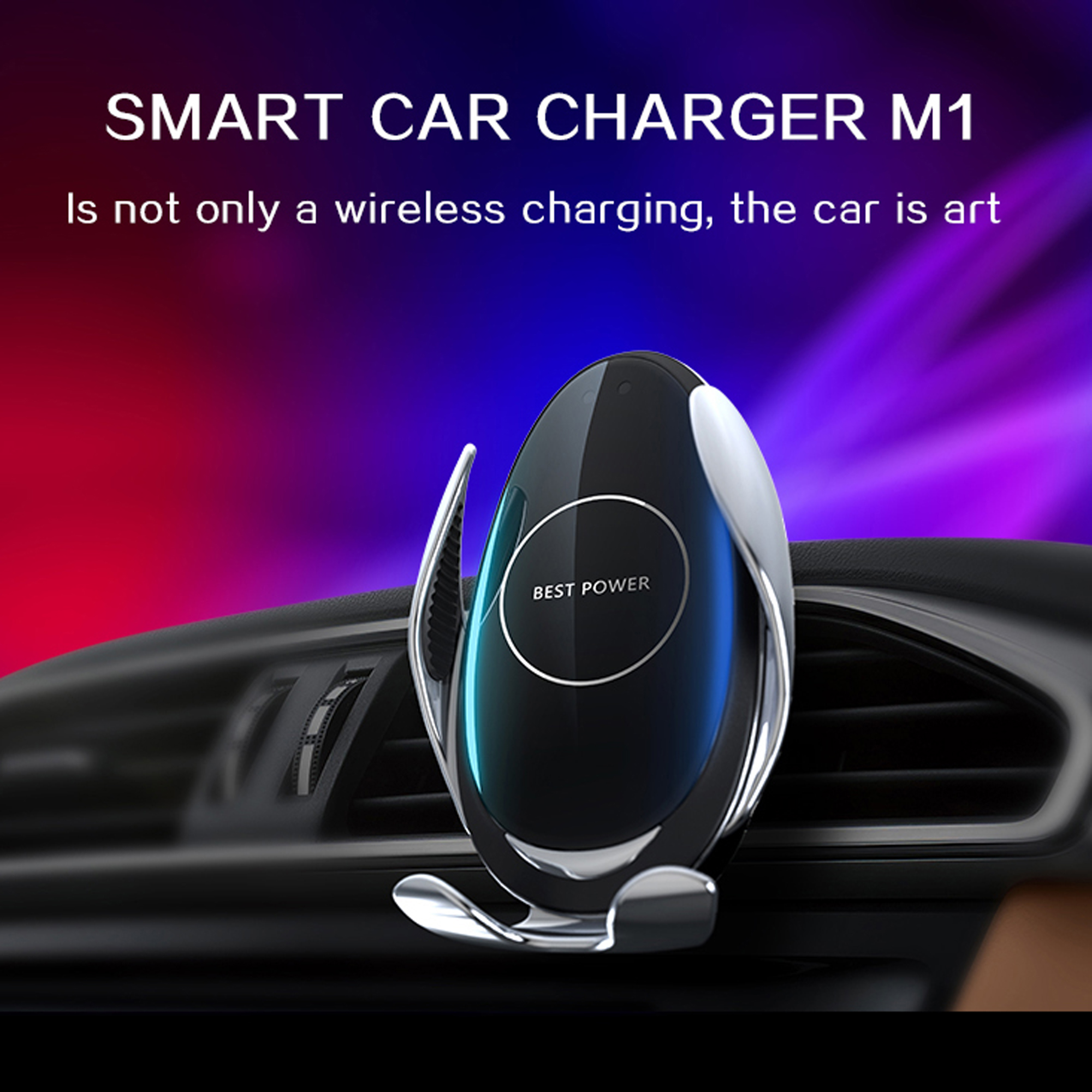 Wireless Charger Car Mount Automatic Clamping for galaxy iphone lg xiaomi samsung android Magic Circle Charging 2A in Wireless Chargers from Cellphones Telecommunications