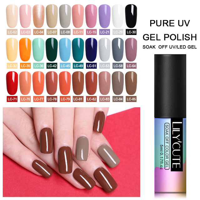 LILYCUTE 5ml Shiny Glitter Gel Nail Polish