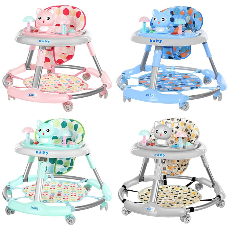 Baby Walker Multifunctional Foldable Anti-rollover Anti-O Leg 6-18 Months