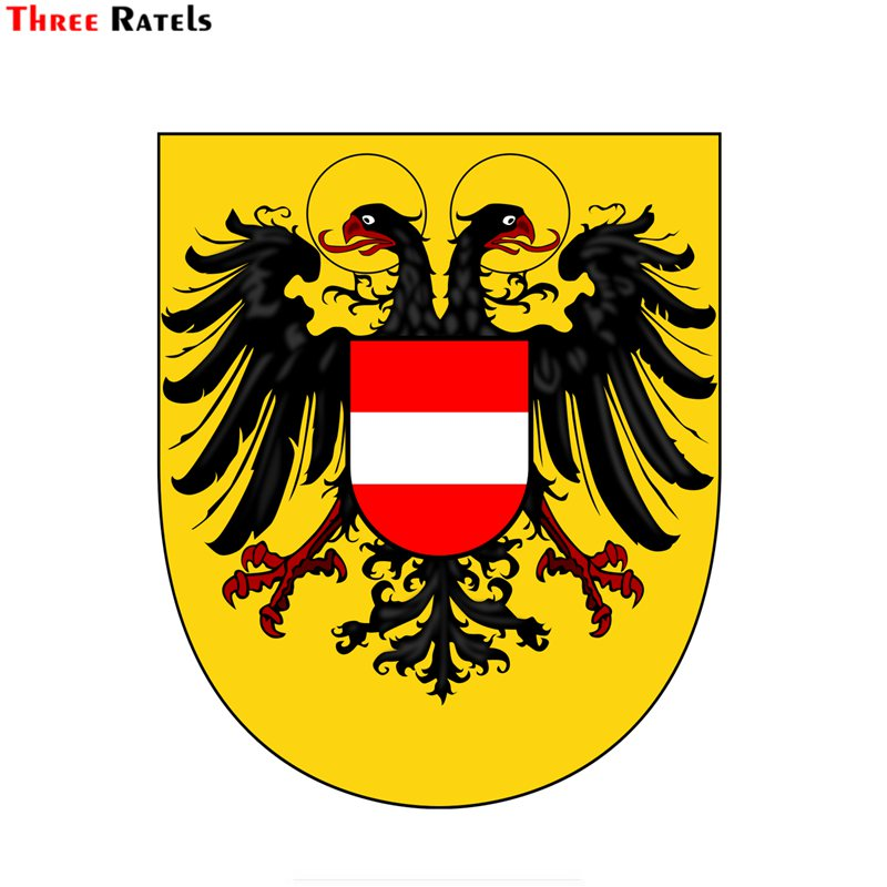 Three ratels FTC-663# Austria national emblem coat of arms of Austria PVC waterproof window auto motorcycle car sticker decal image