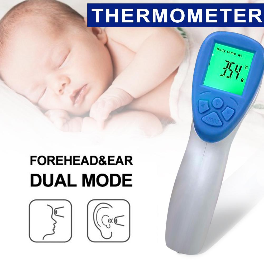 Electronic Infrared Thermometer Home Ear Forehead Thermometer Non-contact Digital Fever Thermometer For Kids Adults