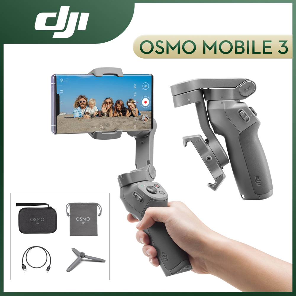 DJI Osmo Mobile 3 Combo 3-Axis Handheld Gimbal Smartphone Stabilizer Selfie Stick Foldable Design Active Track Gesture Controll
