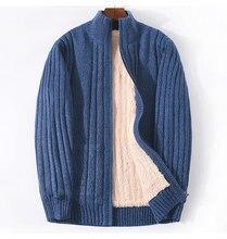 ICPANS – pull tricoté en cachemire d'agneau pour homme, gilet chaud épais en coton et Polyester, collection hiver 2019, 7XL