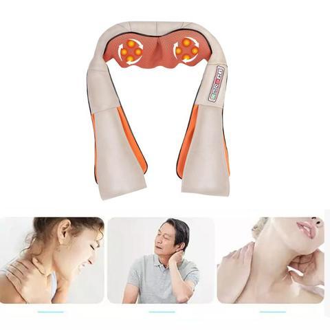 massagem eletrica shiatsu pescoco ombro infravermelho aquecido amassar massageador carro casa para cuidados de