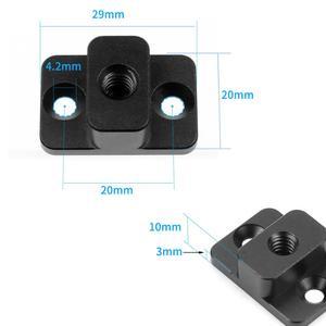 Image 2 - Camera Video Monitor Montageplaat Voor Dji Ronin S Vervangen Mount M4 To1/4 Schroef Adapter Uitbreiden Port Voor monitor Magic Arm