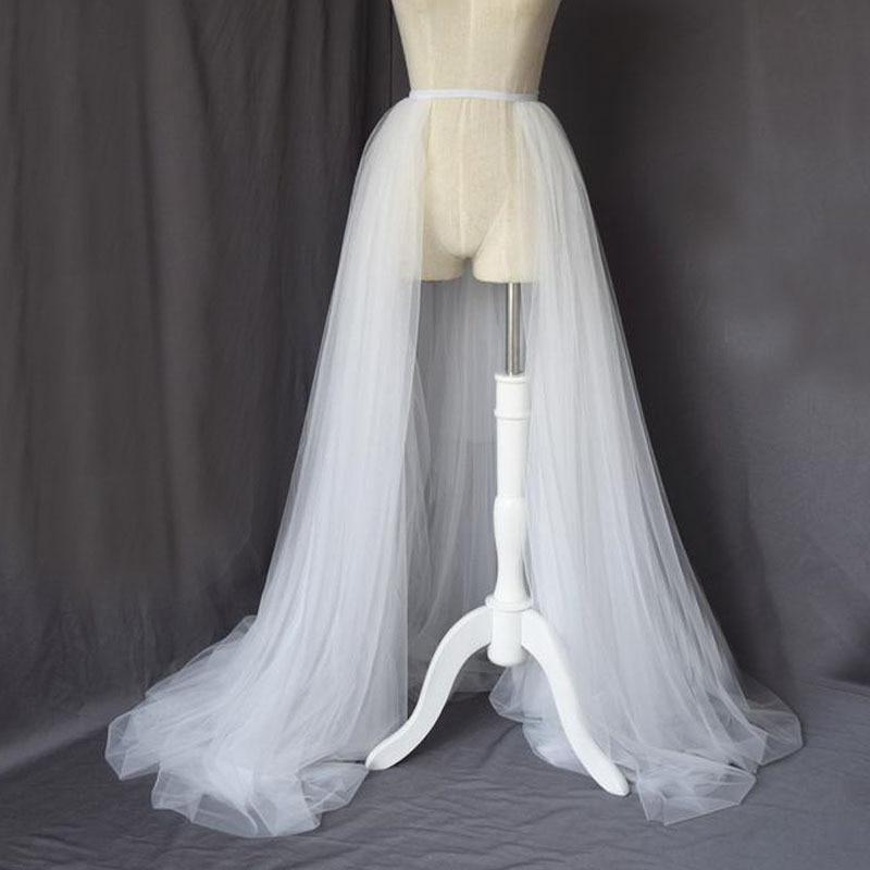 White Detachable Tulle Overskirt Skirt Black Elastic Waist Bridal Overlay Wedding Skirt Long Tulle Over Maxi Party Skirt Train