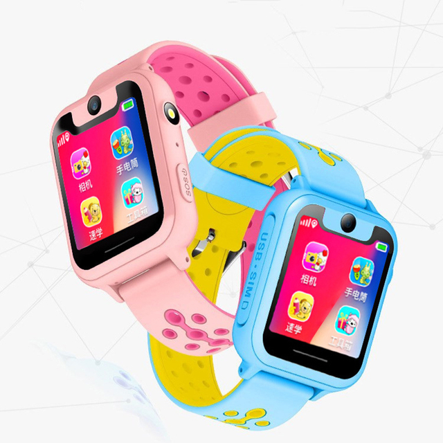 S6 Children smartwatch LBS positioning locator tracker SOS Voice Chat Anti Loss monitor waterproof smart watches Kids Gift 1