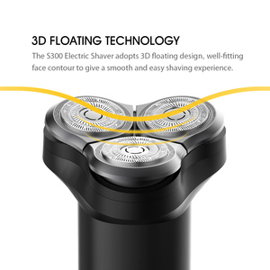 Image 4 - חשמלי מכונת גילוח נייד שיער גוזם IPX7 3D צף תער סוג C טעינה רחיץ גילוח 3 להבים זקן גילוח