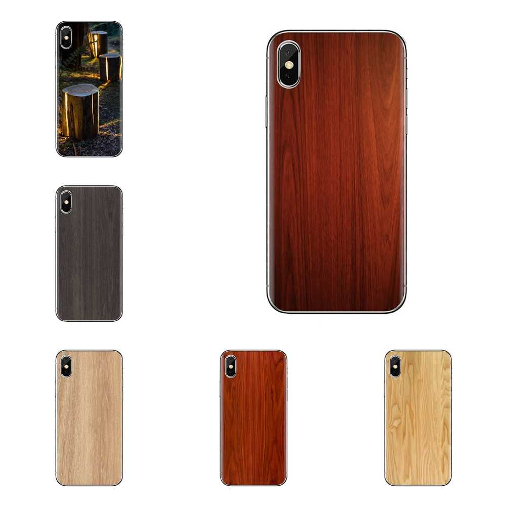 Cubierta transparente de TPU con diseño de grano de madera colorida para Xiaomi Redmi 4A S2 Note 3 3S 4X5 Plus 6 7 6A Pro teléfono móvil F1