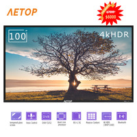 Free shipping hight quality tv smart 100 inch tmepered glass flat screen 4k uhd television with remote control
