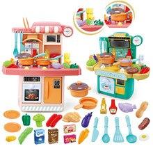 Cozinha comida fingir jogar role playing meninas brinquedos cozinhar crianças conjunto de cozinha para crianças simulação louça brinquedo educativo