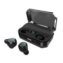 T9 Wireless Stereo Earphone Bluetooth Contact Control Mini Tws Earbuds Ipx7 Waterproof Hifi Music Headset with Mic