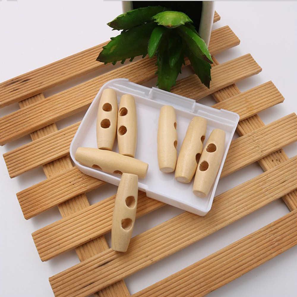 Przyciski z klaksonem naturalnie drewniane guziki z 2 otworami do szycia dla rzemiosła DIY dodatki odzieżowe beżowy 3/4/5/6 cm