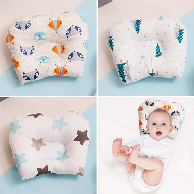 Newborn Baby Pillow Sleep Positioner Support Pillow Cushion Prevent Flat Head Baby Pillow For Infant Toddler Girls Boys