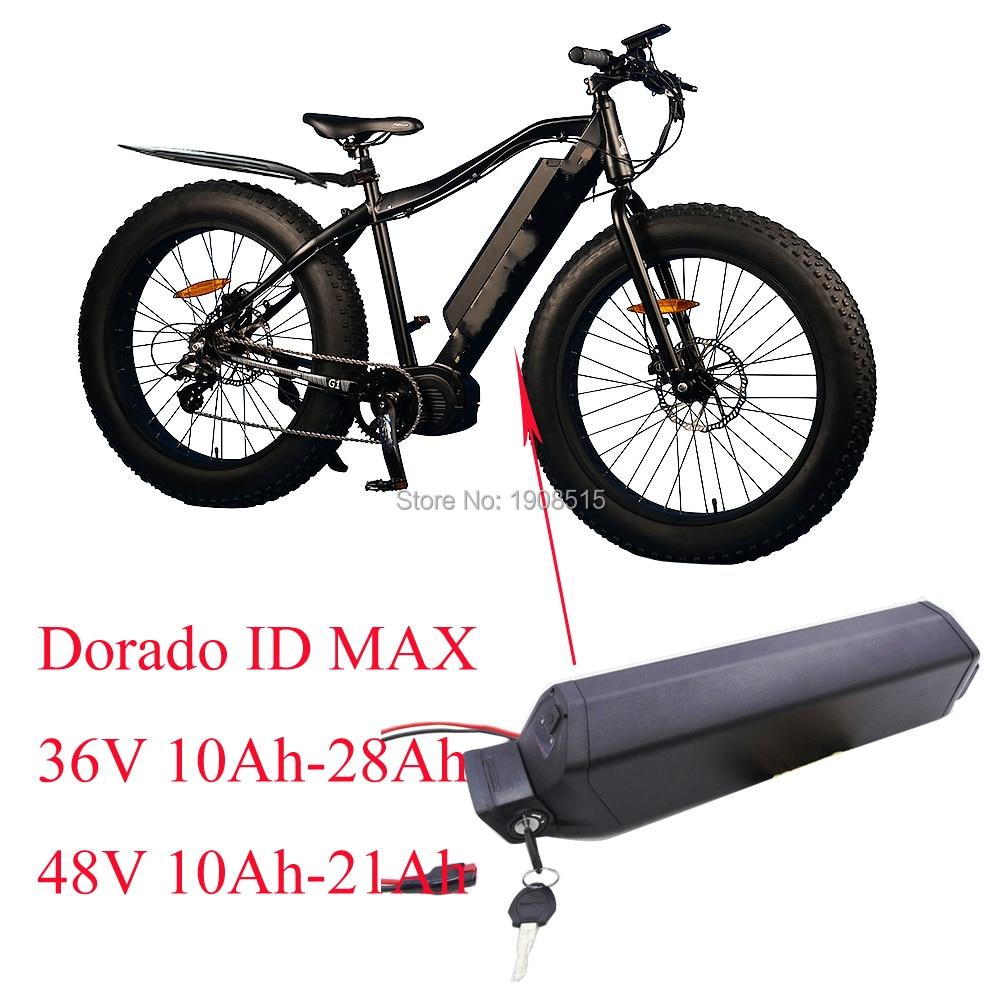 Купить с кэшбэком EU US tax included 48volt 21Ah electric bike frame battery pack 48V 20Ah Reention Dorado ID MAX ebike battery with 54.6V charger
