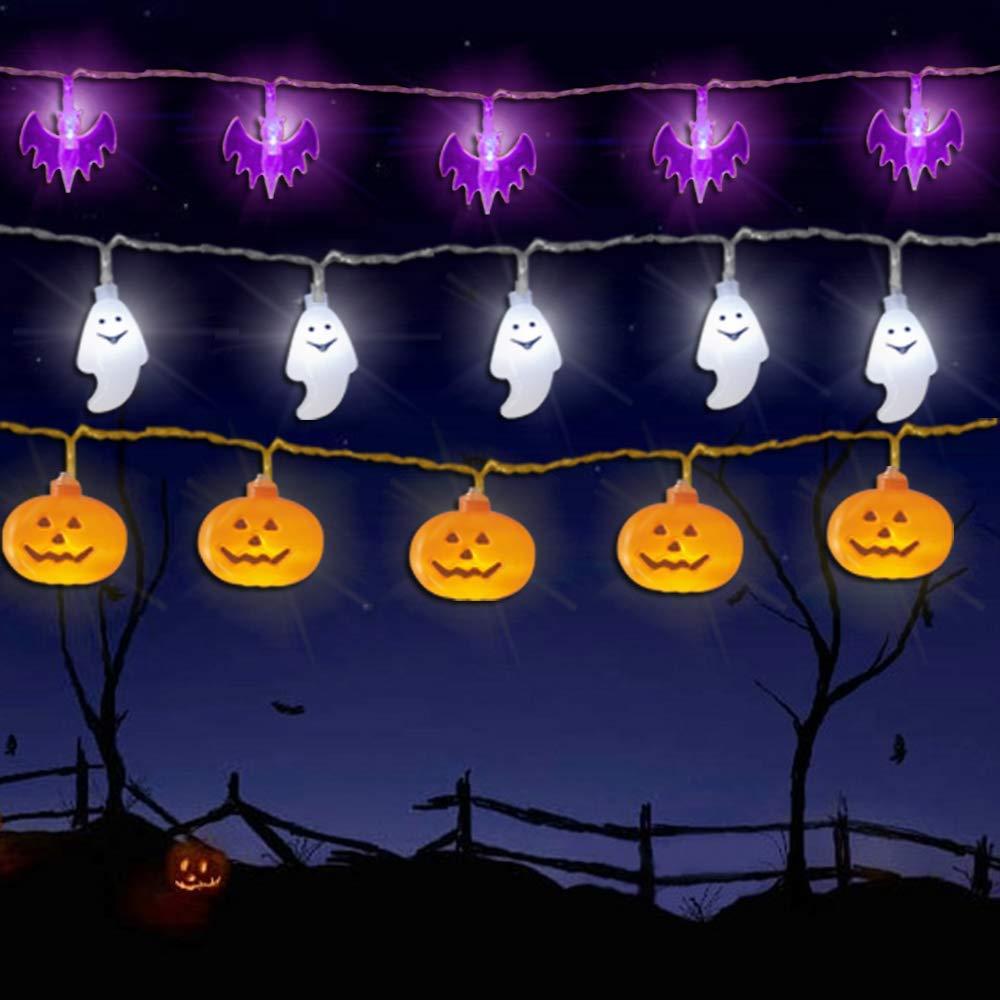 10/20 LED Halloween Pumpkin Spider Bat Skull String Light Lamp Home Garden Party Outdoor Halloween Decoration Lantern Light