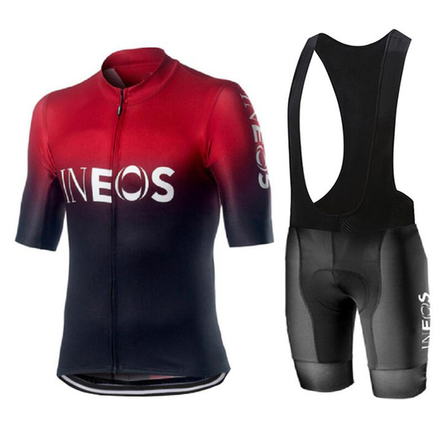 2020 New INEOS Summer Cycling Jersey Set Breathable Team Racing Sport Bicycle Jersey Mens Cycling Clothing Short Bike Jersey NW
