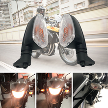 REALZION 12V Motorcycle Turn Signal Light Direction Indicator Lamp Taillight Tail Lights For BMW F650GS F800GS F800R R1200GS