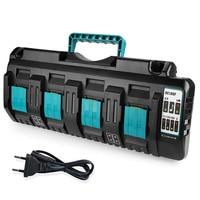 NEW DC18RCT Li ion Battery Charger 3A Charging Current for Makita 14.4V 18V BL1830 Bl1430 DC18RC DC18RA Power tool + USB port
