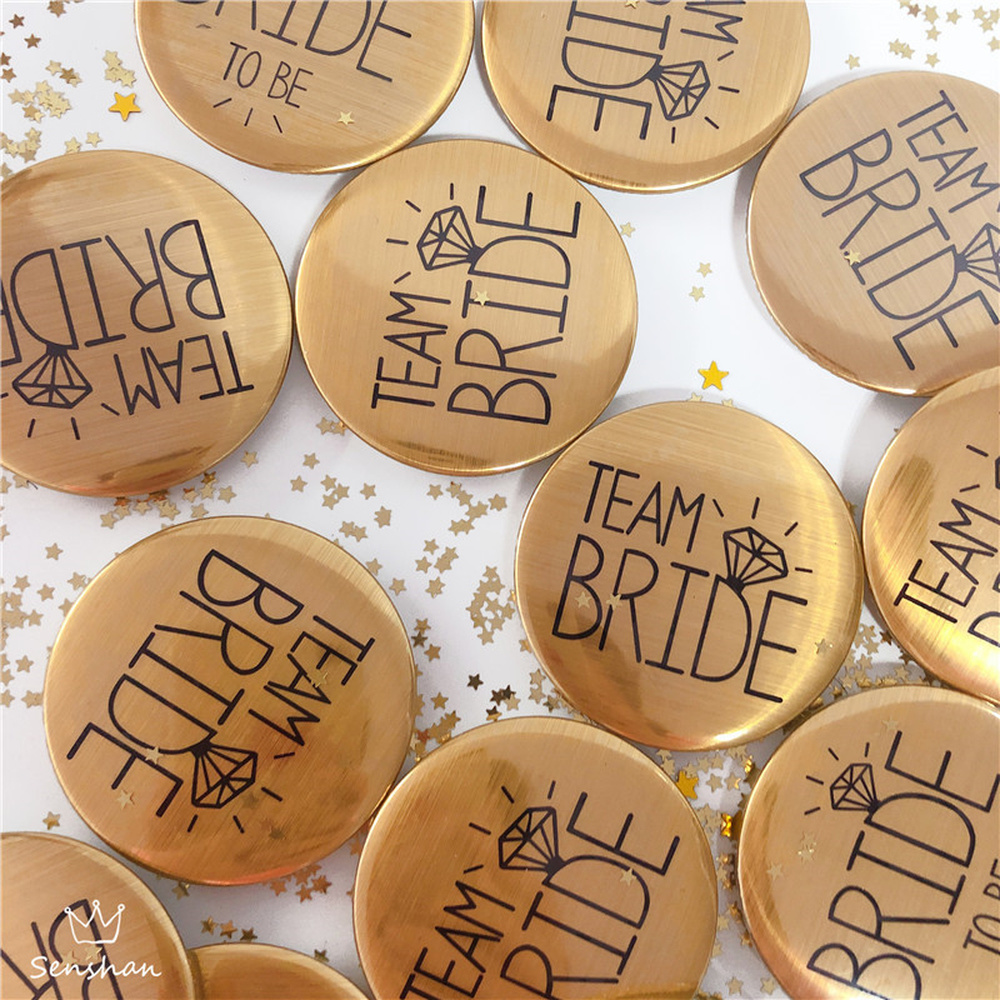 1pcs Bride To Be Badge Team Bride Wedding Decoration Wedding Gifts For Guests Bachelor Party Hen Party DIY Decorative Brooch
