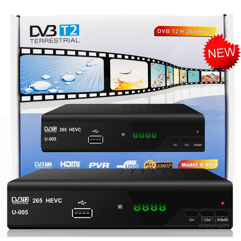 Czech H.265/HEVC DVB-T2 TV Decorder Europe Digital TV Receiver Converter Box Tuner DVB T2 H.265 HEVC DVBT2 Compatible DVB-T/H264