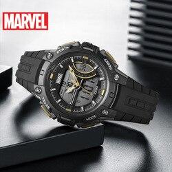 Дисней Марвел серии энергии часы водонепроницаемые женские спортивные часы детские часы Полный календарь 10 бар цифровой двойной дисплей