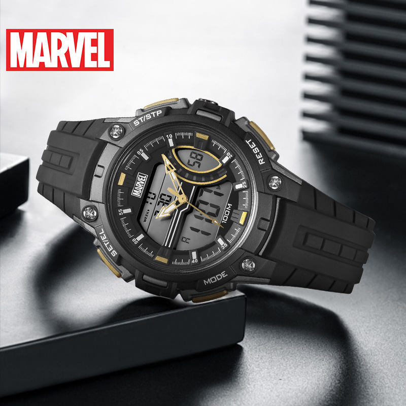 Disney Marvel Energy Series Watch Waterproof Women's Sports Watch Kids Watches Complete Calendar 10Bar Digital Dual Display