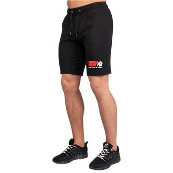 Men Running Sport Cotton Shorts Gym Fitness Workout Training Sportswear Male Short Pants Knee Length Beach Sweatpants Bottoms 1