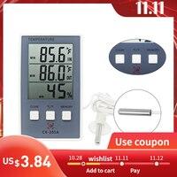 Nouveau thermomètre numérique LCD hygromètre intérieur/extérieur compteur de température compteur d'humidité intérieure avec capteur de température