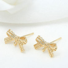 4 pezzi accessori orecchini creazione di gioielli in metallo ottone di alta qualità con orecchini a fiocco placcati oro 14K ganci risultati di gioielli fai da te