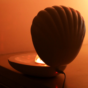 Image 5 - Coquimbo Shell LED Projektion Lampe Gebaut In Akku Schlafzimmer Home Dekoration Touch Schalter Kinder der Nacht Licht