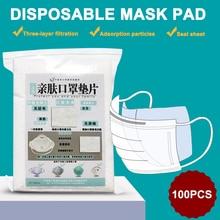100pcs Mask Respirator Filter Pads Disposable Antivirus Smog Prevention For Children Adult Dustproof Mask Pads 50pcs mask replaceable filter pad disposable antivirus covid 19 smog prevention hot