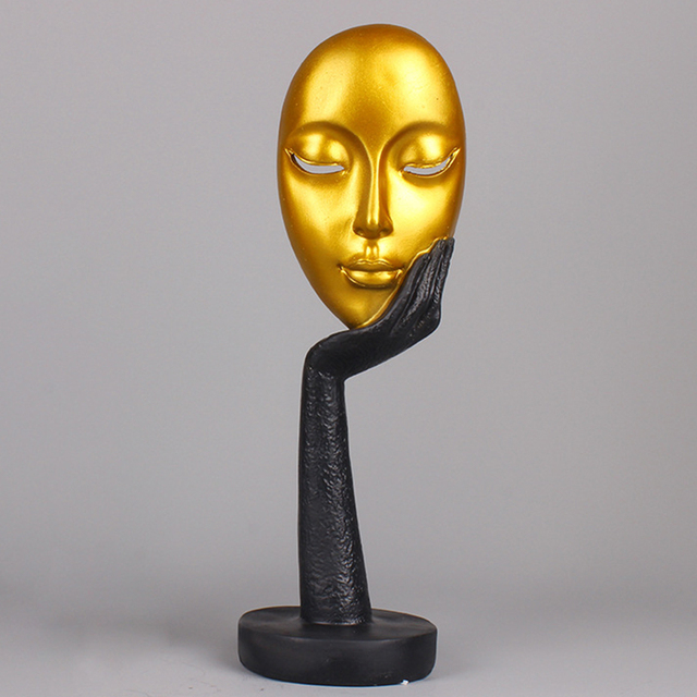 Abstract Human Face Model Statues for Decoration Resin  Sculptures Art Craft Desktop Office Home Decor Gift Character Sculpture 3