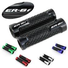 For Kawasaki Ninja 650 ER-6f Motorcycle Handlebar Handle Grip CNC Aluminum None-Slip Rubber