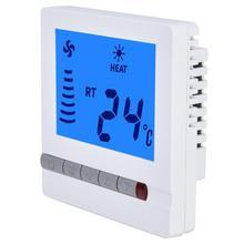 Горячая вентилятор контроль температуры Лер ЖК-термостат вентилятор контроллер обмотки цифровой термостат в комнате пол контроль температуры тестер