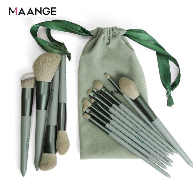 MAANGE Pro 4/13Pcs Makeup Brushes Set  Face Eye Shadow Foundation Powder Eyeliner Eyelash Lip Make Up Brush Beauty Tool with Bag 2