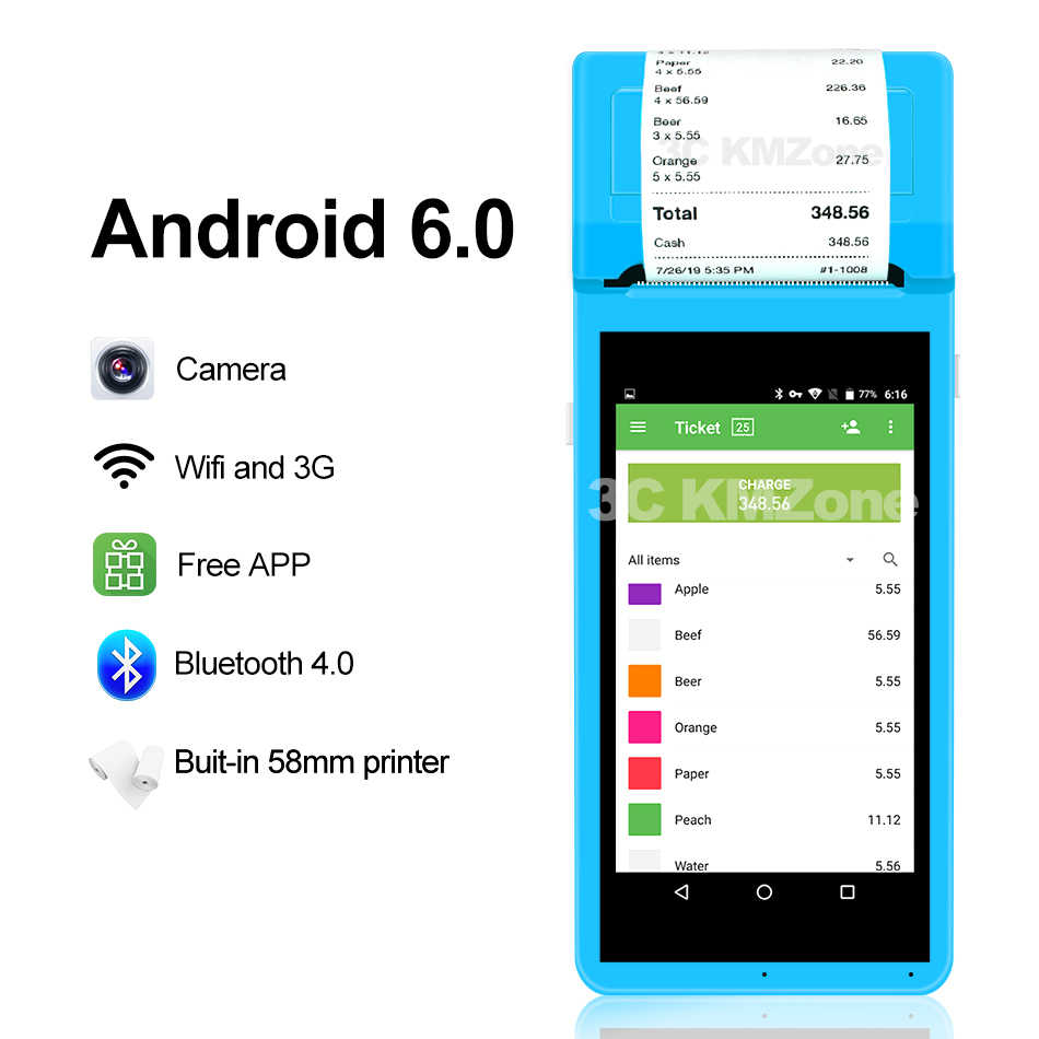 ZKC 5501 Android POS terminal Handheld PDA portable Barcode