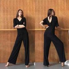 Комбинезон для латиноамериканских танцев с высокой талией тренировочные