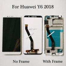 Pantalla LCD de 5,7 pulgadas para Huawei Y6 2018 ATU LX1 ATU L21, montaje de digitalizador con pantalla táctil con marco para Y6 Prime 2018